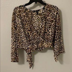 Animal print  sheer top